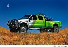 Beau Boeckmann's tricked out 2008 Ford F-450 Super Duty runs on biodiesel and hydrogen.