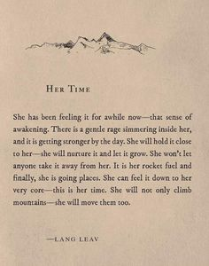 Wise words written by Lang Leav
