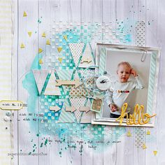 #papercraft #scrapbook #layout. Riikka Kovasin - Paperiliitin: Hello for Paperilla magazine