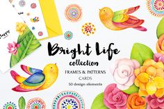 Bright life watercolor set by SoNice on Creative Market
