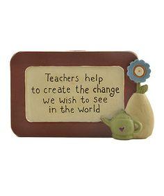 Another great find on #zulily! 'Teachers Create the Change' Pencil Holder #zulilyfinds