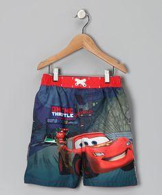 Red Cars Swim Trunks - Toddler