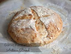 Garlic Parmesan Artisan Bread via Good Eats Girl