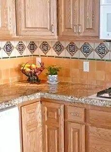 Mexican Tile Backsplash, Copper Sink, Verde Peacock Granite Counter, Talavera  Tile Backsplash   Dream Home ❤   Pinterest   Kitchen Backsplash Diy, ...