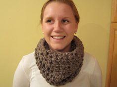 Crochet cowl chunk wool in Gemstone by LarkspurCrochet on Etsy, $25.00