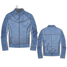 Выкройка мужской джинсовой куртки MJ200218