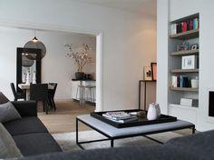 Modern interieur ontwerp voor een prachtig appartement in Amsterdam Oud-zuid door Albin Goossen. Het thema voor het ontwerp was de kleur roze.