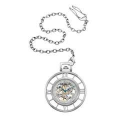 Stuhrling Original Men's Ancestor Silver Mechanical Pocket Watch | Overstock.com Shopping - Big Discounts on Stuhrling Original Men's Stuhrl...