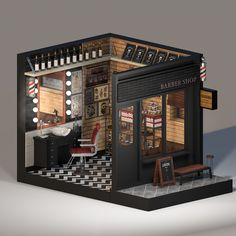 Space Project # 02 BLACK JACK'S Barber Shop on Behance