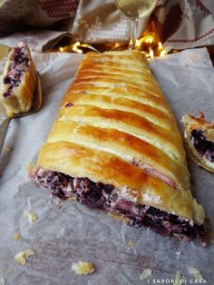 Strudel con radicchio rosso ricotta e noci Quiche, Gourmet Cooking, Cooking Recipes, Healthy Recipes, Antipasto, My Favorite Food, Favorite Recipes, Savory Pastry, Strudel