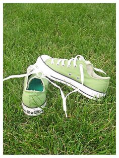 Light Green Converse ♥