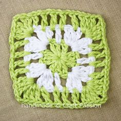 Tutorial to learn the basic crochet granny square pattern with clear instruction and step by step photos. Use granny square to make bigger project.
