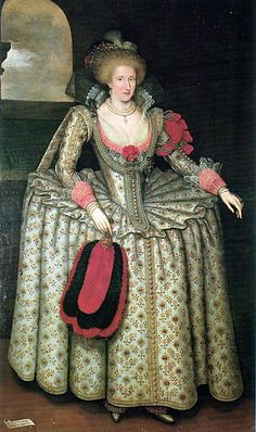 1575 - 1600 Costume for Women. The French farthingale, wheel, drum originated from the Spanish farthingale or verdugale. The farthingale was made of whalebone cane hoops and steel spokes and worn as an understructure to the skirt.