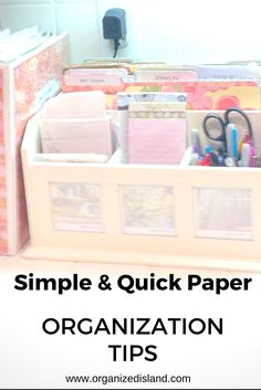 Simple tips to get that incoming paperwork under control and organized. These household organizing tips are great for several aspects of your life! #paper #organization #tips #organize #papers #household #management #declutter #organizationtips