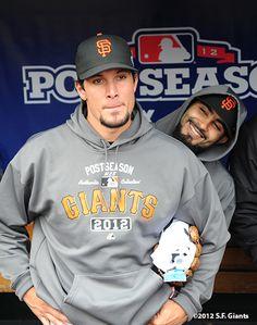 Javier Lopez & Sergio Romo Classic Romo... I love his smile...