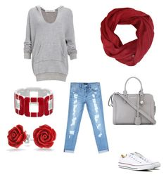 """""""Saturday Errands Outfit"""" by direyna on Polyvore featuring Bebe, Project Social T, Converse, Bling Jewelry and Alexander McQueen"""