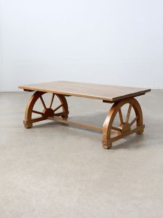 "vintage Monterey style ""wagon wheel"" coffee table"