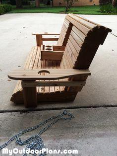 DIY Wood Porch Swing                                                                                                                                                                                 More