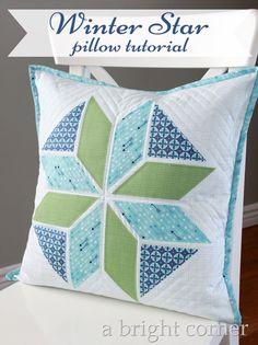 Winter Star Pillow tutorial