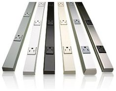 These outlets are sleek-plugmold multi-outlet strips LED Under-cabinet Lighting with Outlets for Kitchen