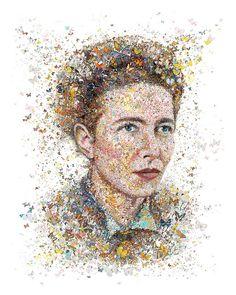 Simone De Beauvoir: The butterfly (for Womankind magazine Australia) by Charis Tsevis
