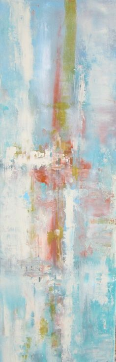 Abstract wall art that is to die for. It has all shades and colors currently residing in my dream beach cottage. :)
