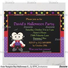 Cute Vampire Boy Halloween Costume Party