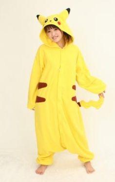 Pocket monster PiKaQiu Cartoon sleeper 1 piece Cosplay Costumes