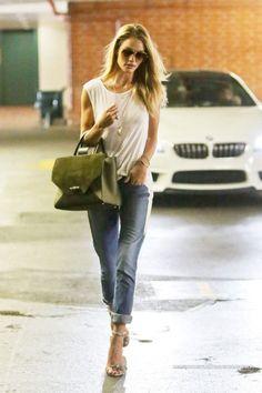 RHW wearing Paige boyfriend jeans