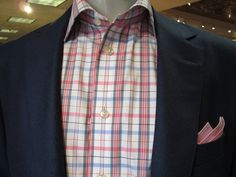 Eton Shirt, David's Master Collection Jacket and Pocket Square