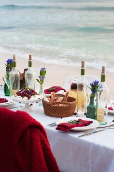 Dinner on the beach