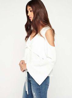 Pinterest Front Tie Top, Cold Shoulder, Shoulder Tops, Miss Selfridge, Asos, Collection, Shopping, Women, Fashion