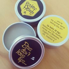 #lipbalm #honey #beeswax #coconut #vitaminE