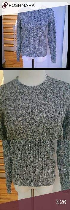 NWT KAREN SCOTT SWEATER NWT Karen Scott Long-Sleeve Crew-Neck Cable-Knit Sweater  Color : Winter White Marled  Materials : 100% COTTON Karen Scott Sweaters Crew & Scoop Necks