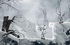 Frozen mountains concept Play Market, Open My Eyes, Detroit Become Human, My Beauty, Concept Art, Cool Designs, Mountains, Video Games, Frozen