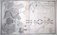Original Landscape plan of Blenheim Palace by Lancelot Capability Brown  mid 1700s