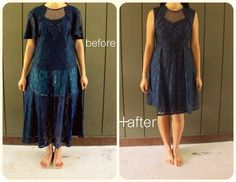 49 Dresses: Royal Blue before and after goodwill finds and home diy. very cool