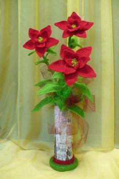 Flores de crochê.  Seleção para inspiração (4) (464x700, 207KB)