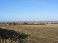 The view towards the sea from the hill at Thornham