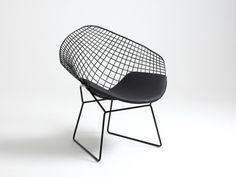 Krzesło druciane metalowe Diament Chair-Krzesła-jadalniane-Customform