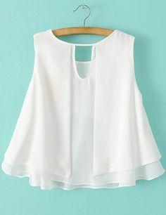 Shop White Sleeveless Ruffle Chiffon Blouse online. SheIn offers White Sleeveless Ruffle Chiffon Blouse & more to fit your fashionable needs.