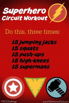 Don't miss the #FBGChallenge Superhero Circuit Workout! Get ready for some super strength coming your way.