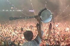 Winston and his banjo. #Mumford