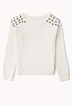 Rebel Studded Sweater (Kids) | FOREVER21 girls - 2058916367