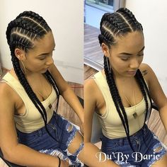 Feed in braids -- goddess braids hairstyles cornrows 15 Most Cute Curly Hairstyles for Women Over 30 Feed In Braids Hairstyles, Cute Curly Hairstyles, Girl Hairstyles, Braided Hairstyles, Hairstyle Ideas, 4 Feed In Braids, 4 Braids Hairstyle, Hair Ideas, Curly Hair Styles