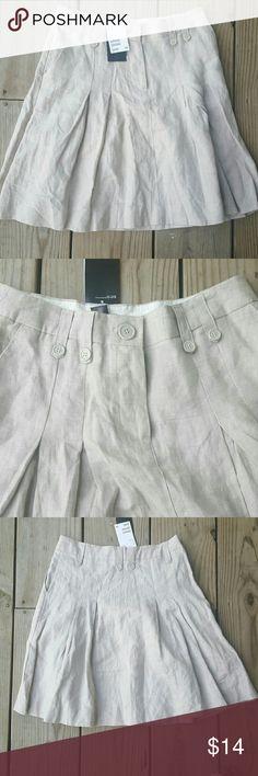 NWT H&M pleated skirt Pleated, linen, NWT H&M Skirts Mini