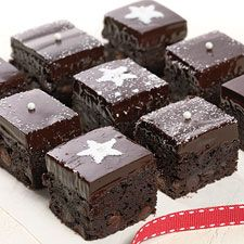 Decadent, moist, dark chocolate brownies, with a kick of raspberry.