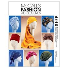 Misses' Turban, Headwrap & Caps-All Sizes in One Envelope Pattern at Joann.com