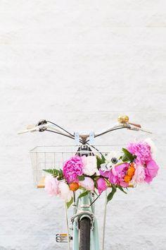 DIY Floral Bike Basket                                                                                                                                                     More