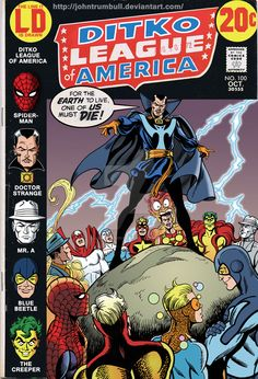 LIID 100: Ditko League of America! by johntrumbull
